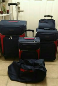 Luggage 5pieces set Navy/ Red Houston, 77036