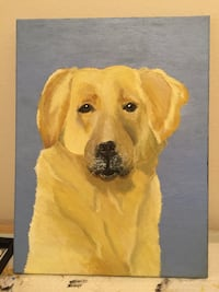 Yellow Lab Painting