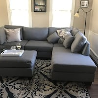Brand new gray linen sectional sofa with ottoman  Silver Spring, 20901