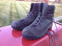 pair of black Timberland work boots 19 km