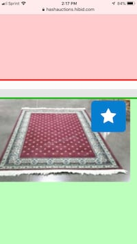 """Beautiful are rug very good condition size 65"""" by 94""""  Fairfax, 22033"""