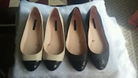 2 pairs of leather flat shoes Surrey, V3W 3C6