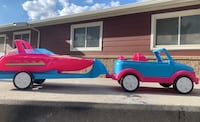 Barbie car and boat