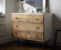 Reclaimed Wood + Lacquer 3-Drawer Dresser Arlington, 22206