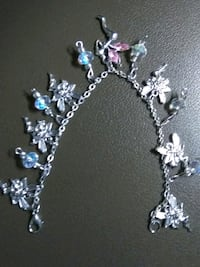 silver and blue beaded necklace Chesapeake, 23320