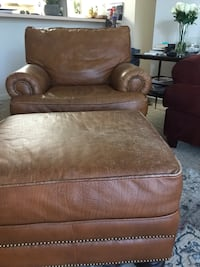 Leather chair with ottoman Virginia Beach, 23464