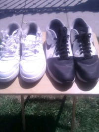 two pairs of white and black low-top sneakers Fresno, 93726