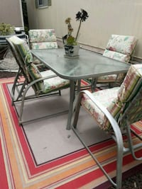 rectangular glass top table with four chairs dining set San Diego, 92154