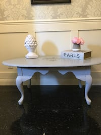 REDUCED-French Provincial Solid Wood Coffee Table, Chalk Painted-Reduced Brighton