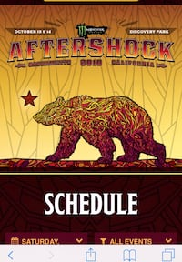 4 Aftershock tickets for This Sat! 100/each Rohnert Park, 94928