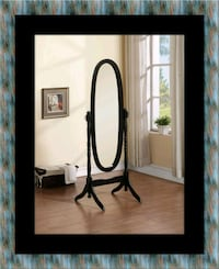 Black swivel oval mirror 46 km
