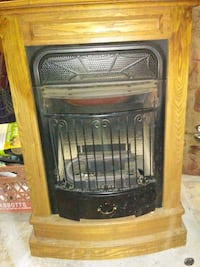 brown wooden framed electric fireplace Jim Thorpe, 18229