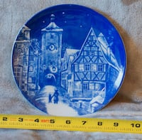 blue and white decorative plate MEDFORD