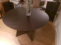 round brown wooden pedestal table Washington, 20017