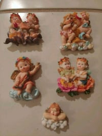 two brown and white ceramic figurines Delray Beach, 33445