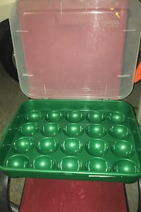 Sterilite Christmas ball ornament decoration storage container Clarks Green, 18411
