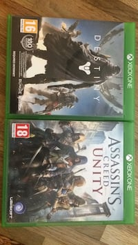 Xbox one spel Destiny och assassins creed unity Stockholm, 124 70
