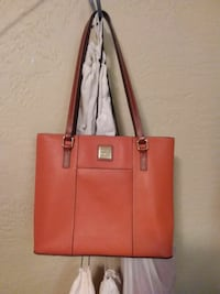 women's peach tote bag
