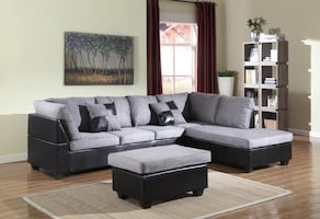 New sofa Sectional & Ottoman come in box - Free Delivery Today
