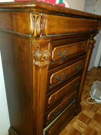 brown wooden dresser with mirror Montreal East, H1E