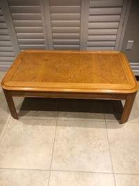 Coffee table great size solid wood. Delivery available.  Brampton