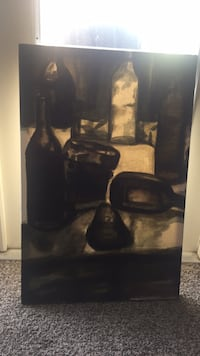 black and brown abstract painting Denton, 76201