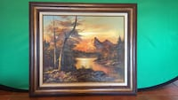 Landscape Painting and Frame (Signed R. Sutherland) Phoenix, 85023