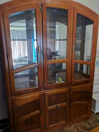 brown wooden framed glass display cabinet Canton, 44707