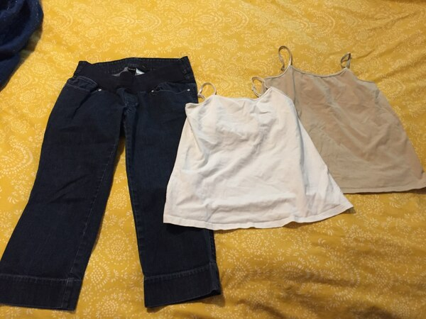 f7e4cf8d4c460 Used Maternity clothes bundle. Size small a.n.a. Brand from JCPenney for  sale in Pinehurst