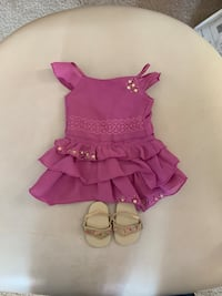 American girl embroided party dress and sandals  Jessup, 20794