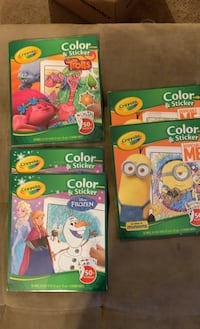 Crayons color and sticker trolls, minions and frozen North Attleboro, 02760
