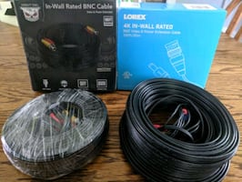 BNC 4k rated cables for security cameras