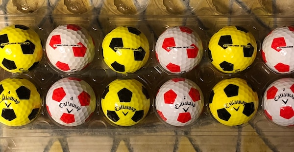 A Dozen Callaway Chrome Soft Golf Balls - AAAA Condition