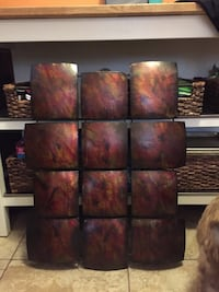 Square red and black marble standing decor North Charleston, 29406