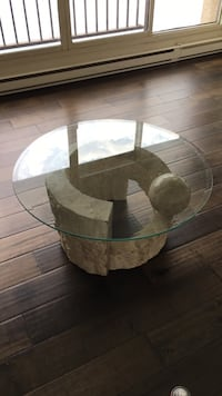 Glass and stone globe coffee table(globe is chipped but still have all pieces) Toronto, M5J 2T5