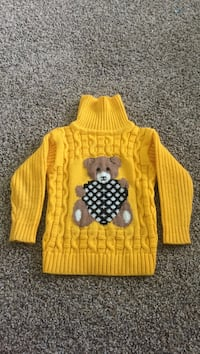 Yellow and white knitted sweater Спарта, 65753