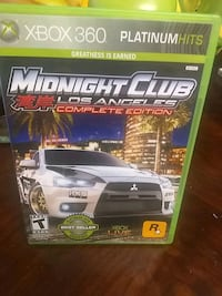 Console game is midnigh club of Los Angeles  for a Xbox 360  c oomplet