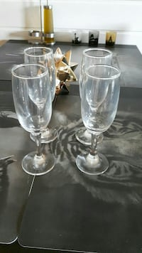fire klare Champagneglass  Orkdal, 7300