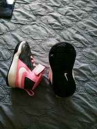 pair of black-and-white Nike basketball shoes Clayton, 27520