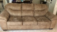brown suede 3-seat sofa Newport News, 23602