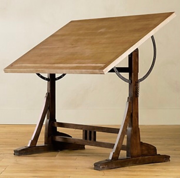 1920s FRENCH DRAFTING TABLE (Restoration Hardware) Highly Reduced Price!