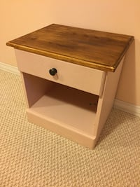 white and brown wooden 1-drawer side table Waterloo, N2L 0B1