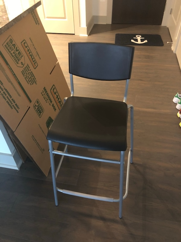 Two Black barstool chair
