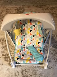 baby's white and gray high chair Seattle, 98122