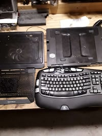 Cooler fans and wireless keyboard