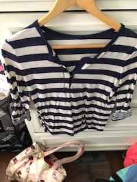 white and black striped polo shirt Oceanside, 92057