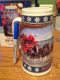 Collectible 1995 Budweiser Holiday Stein