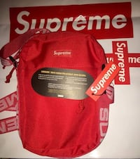 red and white Supreme backpack Fairfax, 22033