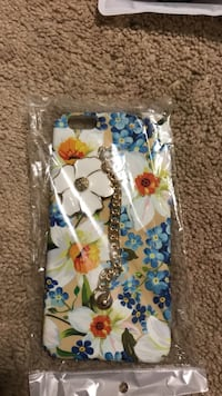 white and blue floral iPhone case