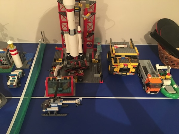 Lego rocker and truck toy set